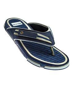 Gray & Blue Joes Adjustable Flip-Flop - Men