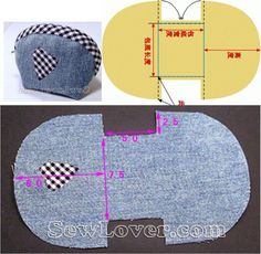 Best 12 We sew a cosmetic bag – SkillOfKing. Small Sewing Projects, Sewing For Kids, Sewing Hacks, Sewing Tutorials, Diy Bags Patterns, Sewing Patterns, Sewing Art, Sewing Crafts, Diy Bags Purses