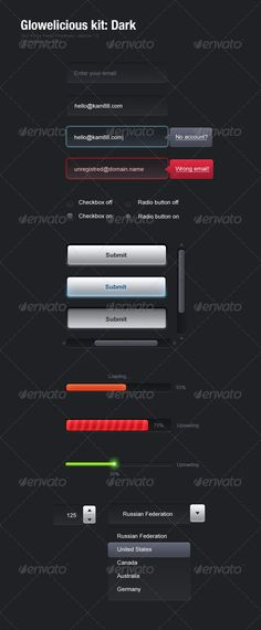 Glowelicious GUI Kit - $4