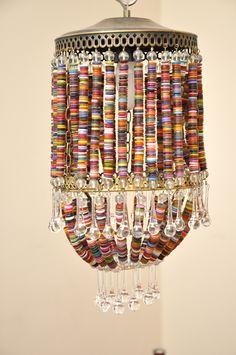ButtonArtMuseum.com - Button lamps by Rescate