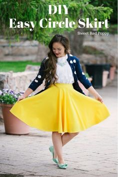 Sewing Skirts Easy Circle Skirt Tutorial Free PDF Pattern Yellow Skirt Beginner friendly - You can find the fabric I used here SaveSave SaveSave SaveSave SaveSave SaveSaveSaveSaveSaveSave SaveSave SaveSave Related Posts Sewing Projects For Beginners, Sewing Tutorials, Sewing Tips, Sewing Ideas, Learn Sewing, Dress Tutorials, Sewing Basics, Sewing Hacks, Sewing Patterns Free
