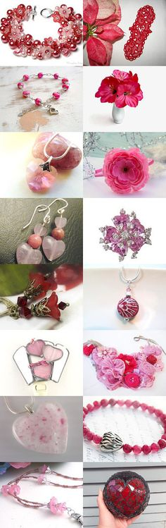 Hearts and Flowers For Your Valentine by Allison and Sheryl on Etsy--Pinned with TreasuryPin.com