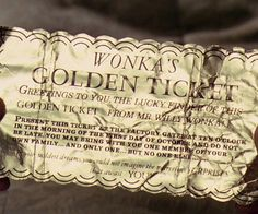 Take your party invitations to a new level by inviting friends and family using the widely known Willy Wonka Golden Tickets.