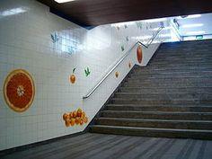 Rolando Sá Nogueira   Estação / Station Laranjeiras   Metropolitano de Lisboa / Lisbon Underground   1988 #Azulejo #SáNogueira #MetroDeLisboa