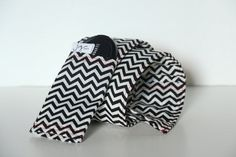 DSLR Camera Strap Cover Black Chevron and Red Accent by JoyMadeIt