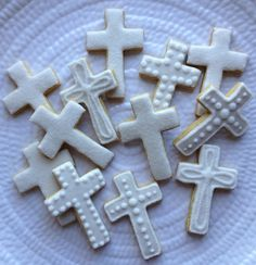 Cross Sugar Cookies-Gluten, Dairy, Egg, Nut and Soy Free. $36.00, via Etsy.