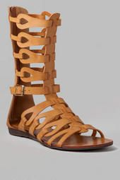 Sierra Gladiator Sandal. Wear with Damietta embroidered maxi dress