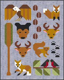 Introducing Sew Fresh Quilts new pattern – Forest Friends! I am so excited to have completed both the Twin and Baby size versions of the. Quilting Projects, Quilting Designs, Quilting Tips, Elizabeth Hartman Quilts, Wildlife Quilts, Fox Quilt, Baby Quilt Patterns, Miniature Quilts, Animal Quilts