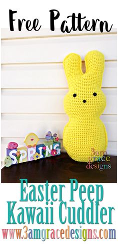 While Easter isn't really about bunnies or baskets — our families celebrate that He has Risen — we also enjoy sharing the fun, whimsical traditions with our loved ones. We couldn't resist crocheting a Peep candy bunny to share with all of you. He (or she) can be any color you'd like — and remain calorie …
