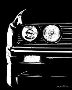 BMW E30 Headlight Closeup