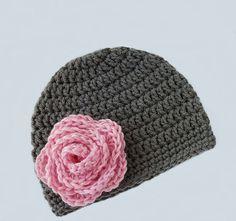 Baby Girl Hat Crochet Baby Hat Newborn by RoyalCrownHandmade