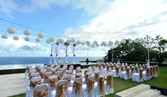 Ceremony Setup at Cliff Front Villa