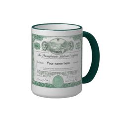 Pennsylvania Railroad Stock Certificate Mug -SOLD-