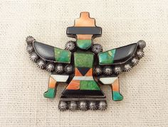 Zuni Inlay Kachina Brooch