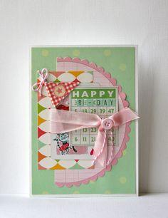 Shabby Chic Birthday Handmade Card