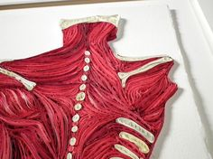 Quilled Anatomical Back Fine art anatomical by YakawonisQuilling