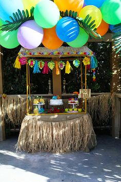 """ with this fun luau party decoration! With bright flowers, this garland makes a great addition to your beach party . Aloha Party, Hawaii Birthday Party, Luau Theme Party, Hawaiian Party Decorations, Hawaiian Luau Party, Hawaiian Birthday, Tiki Party, 2nd Birthday Parties, Moana Party"