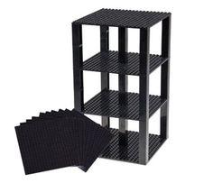 "Lego Base Plates Brick Building Stackable Tower Mega Bloks 10 Pieces 6/""x6/"" Gray"