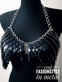 Dress VALKYRIE II black  cool FASHIONSTYLE in metal