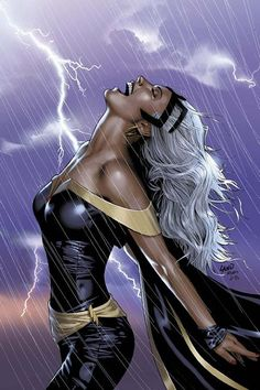 "X-Men: Storm ""no place on earth can hide you from my wrath, no power nor entity can protect you"" Storm: Ultimate XMen - - Marvel Marvel Vs, Marvel Dc Comics, Marvel Girls, Disney Marvel, Storm Marvel, Bd Comics, Comics Girls, Marvel Heroes, Storm Xmen"