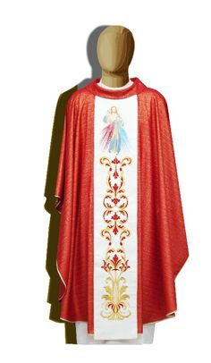 Divine Mercy. Chasuble made in Italy. info@tiemmecreazioni.it
