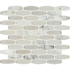 MS International Ellia Blanco 12 in. x 12 in. x 8 mm Glass Stone Mesh-Mounted Mosaic Tile-SGLSOB-ELBLA8MM - The Home Depot