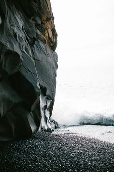 Iceland Travel Journal // Black Sand Beach in Vik // Shannon Kirsten Beautiful World, Beautiful Places, Landscape Photography, Nature Photography, Road Trip, Black Sand, Adventure Is Out There, Oh The Places You'll Go, Wild Flowers
