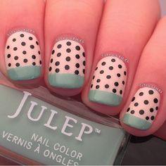 Awesome nail art! Polka dots + Julep Kam.