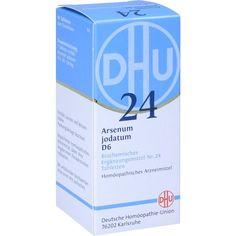 BIOCHEMIE DHU Schüssler Salz 24 Arsenum jodatum D6 Tabletten:   Packungsinhalt: 80 St Tabletten PZN: 01196471 Hersteller:…