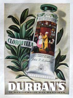 Pubblicità originale Anni 50 DURBANS Bruno Bellesio advertising werbung reklame