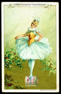 Ballerina (No. 6) trading card issued by Liebig Extract of Beef Company. S257.
