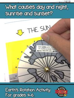 Hands-on astronomy activity to help students understand how Earth's rotation causes day and night!  Print and go with an answer key.