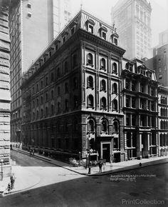 Photographed at 48 Wall Street. corner of William Street New York City by Irving Underhill in 1922.
