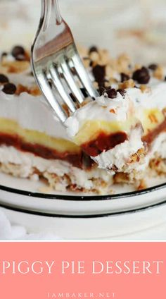 The name is what drew me to it of course! Chocolate pudding, vanilla pudding, a sweetened cream cheese layer, and the most glorious baked crust. 13 Desserts, Layered Desserts, Delicious Desserts, Yummy Food, Healthy Desserts, Summer Desserts, Profiteroles, Strudel, Toffee