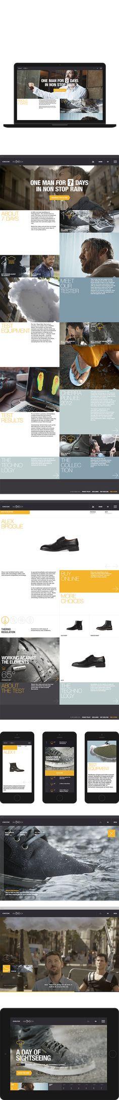 Nice brand identity__Geox 7 Days of Rain by Marius Roosendaal, via Behance
