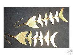 Fair Trade Gold Plated Bombolulu Fish Earrings--$19.00