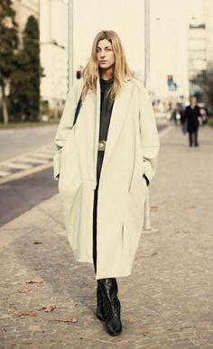 Ada Kokosar wearing one of her favourite coats. #ACNE
