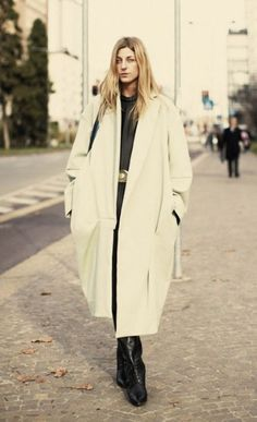 Ada Kokosar wearing one of her favourite coats. #ACNE