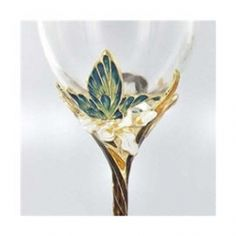 Hand Crafted Butterfly wine glasses