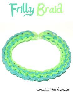 How to make a Rainbow Loom Frilly Braid bracelet - tutorial