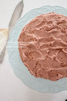 Minute Boil Fudge Frosting - a tried and true vintage family recipe that only needs a few ingredients! #chocolate #fromscratch