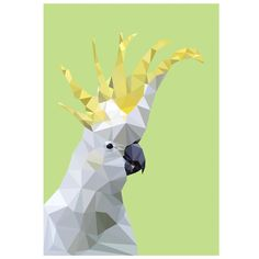 cocky head art print