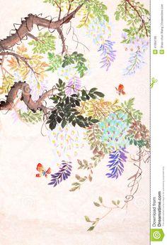 Chinesische Malerei Von Blumen Und Von Schmetterling - Download von über 45 Million Vorrat-Fotos der hohen Qualität, Bilder, Vectors. Melden Sie sich FREI heute an. Bild: 41084180