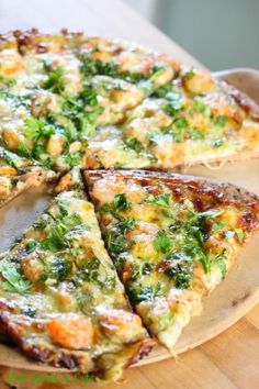 Eat Good 4 Life » Shrimp scampi pizza
