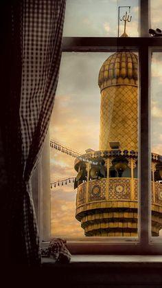 subh e karbala 💗 Roza Imam Hussain, Imam Hussain Karbala, Islamic Images, Islamic Pictures, Islamic Art, Karbala Pictures, Muharram Wallpaper, Karbala Iraq, Mecca Masjid
