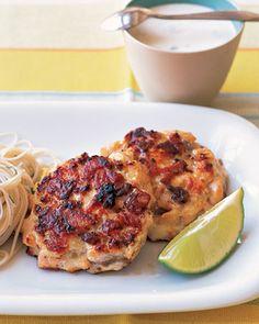 asian salmon patties... add rolling in Panko crumbs & yum!