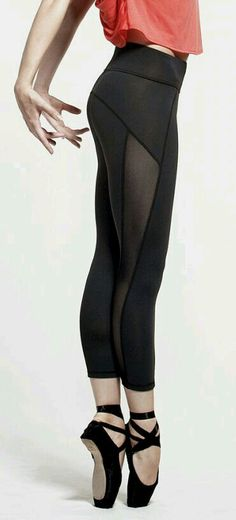 Ballet and interesting panel design on the leggings. I like it!