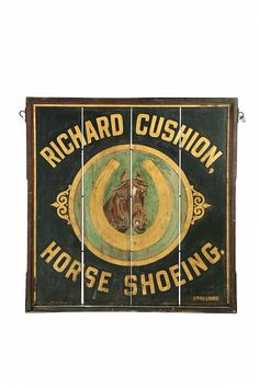 Horse Shoeing TRADE SIGN.