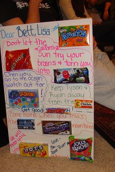Candy bar posters or cards are a fun way to recognize, wish good luck, award or congratulate. My son received a candy bar poster from his aunt and uncle the first time he water skied. Kids Gift Baskets, Christmas Gift Baskets, Christmas Gift Guide, Homemade Christmas, Diy Christmas Gifts, Christmas Fun, Holiday Gifts, Santa Gifts, Christmas Wrapping