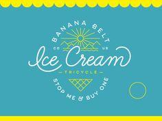 Banana Belt Ice Cream Logo by Jared Jacob